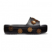 Crocband Platform Metallic Blooms Slide
