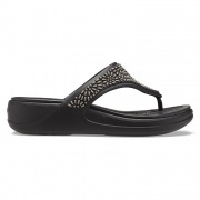 Crocs Monterey Diamante Wedge Flip W női papucs