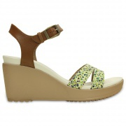 Crocs Crocs Leigh II Ankle Strap Graphic Wedge szandál 1e083d6323